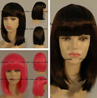 HOT sexy fashion medium lenght Straight with slight wavy texture bob wig  12""