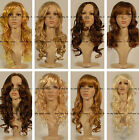 NEW HOT sexy Long Brown Blonde Wavy full wig fashion wigs for girls and women
