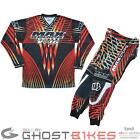 MAX EQUIPE V-16 JERSEY & TROUSERS MOTOCROSS MX MOTO-X KIT TRIALS TOP PANTS RED