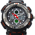 NEW OHSEN Mens LCD Digital Quartz Sport Military Army Rubber Analog Wrist Watch