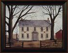 """""""EARLY AMERICAN HOME"""" by Billy Jacobs FRAMED ART PRINT 15x19 ~ farm house"""