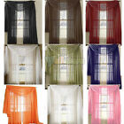 U Pick!!! 3Pcs Voile Sheer Window Panels Curtains with Scarf Brand New Curtains