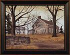 STONE COTTAGE by Billy Jacobs 15x19 FRAMED ART PRINT Brick House Country Home
