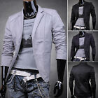 New Trench Mens Slim Fit Blazer Coats Tops Jackets Outerwear 5 Size XS S M L XL