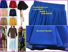 Vintage Women Ladies Girl Double layer Chiffon Short Mini Skirt Candy Color  #S8