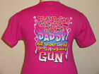 SASSY CHICKS womens NEW pink GUN t-shirt fun for girlie simply southern belle
