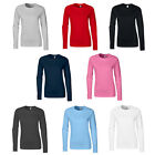New GILDAN Womens Ladies Soft Style Cotton Long Sleeve T Shirt in 7 Colours S-XL