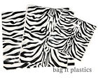 CARRIER BAGS LUXURY ANIMAL PRINT - LEOPARD & ZEBRA SMALL MEDIUM & LARGE