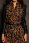 Lady Fashion Leopard Print Pattern Scarf Wrap 4 Colours
