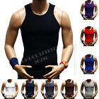 Men's Slim Muscle Tank Top T-Shirt Casual Ribbed Sleeveless Gym Fashion A-Shirt  image