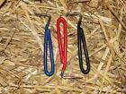 HORSE - PONY -  EQUESTRIAN STEEL HOOF PICK WITH HANDLE GRIP - BLACK - RED - BLUE