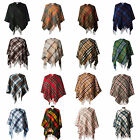 Edinburgh 100% Lambswool Tartan Short Cape Poncho Suitable for Adult & Children