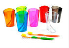 1Pc New Transparent  Bathroom Tooth Water Mug Toothbrush Holder Stand Cup