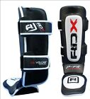 Rdx Leather Gel Shin Instep Pads Mma Leg Foot Guards Muay Thai Kick Boxing Ufc B