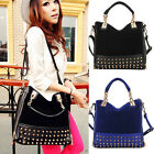 Korean Fashion Women Rivet Stud Studded Bottom Duffel Tote Shoulder Hobo Bag NEW