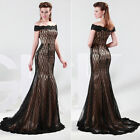 Mermaid Off Shoulder Lace Formal Ball Gown Evening Prom Party Full-length Dress
