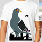 PIGEON ZILLA VS LONDON T-Shirt. Unique Indy Art, Funny Godzilla, Monster City UK