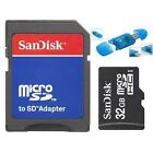 SanDisk 32GB Class 4 MicroSD Micro SDHC TF Flash Memory Card + Reader SD Adapter