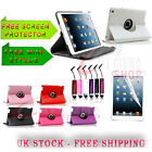 New Stylish Leather Stand Case 360 Degree Rotating  For New Apple iPad Mini