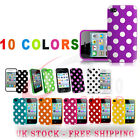 2 X Soft Silicone Polka Dots Series Case Cover For iPhone 4 4S Free P&P