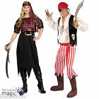 NEW ADULT STRIPED PIRATE HALLOWEEN BOOK DAY FANCY DRESS COSTUME OUTFIT ONE SIZE