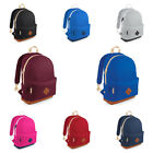 New BAGBASE Heritage Retro Student School Padded Backpack Rucksack Bag 4 Colours