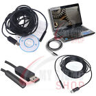 Video Snake Tube Camera Mini USB Waterproof Endoscope Inspection 2m 5m 7m 10m