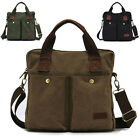 Vintage Casual Men Canvas Business Shoulder Satchel Tote Messenger Bag Briefcase