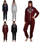 99K WOMENS HOODED LADIES CAT PRINTED PYJAMA ALL IN ONE JUMPSUIT ONESIE SIZE 8-12