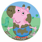 George from Peppa Pig Personalised Edible Rice/Icing Cake Topper 7.5 inch Circle