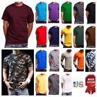 Men HEAVY WEIGHT T-Shirt Plain Crew Neck Hipster Sports GYM Fitness Big & Tall image