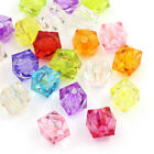Wholesale Lot 1000pcs Mixed Faceted Square Acrylic Beads 8mm