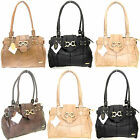 NEW LORENZ LADIES LARGE PATCH LEATHER WEEKEND SHOULDER BAGS HAND BAGS