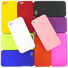 For Apple iPhone 5S 5 Colorful Matte Rubberized Hard Case 2 Piece Snap On Cover