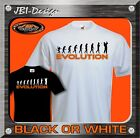 T-Shirt Fun Shirt Evolution Golf Golfer Golfspieler Caddie Gulf