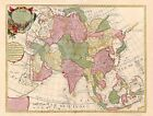 1700 BEAUTIFUL LARGE FRENCH MAP OF ASIA