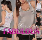 NEW SEXY WOMEN'S TOP SZ 8-10 HOT PARTY CASUAL EVENING SINGLET SHIRT CLOTHES WEAR