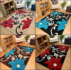 NEW SMALL LARGE MODERN BEIGE BLACK TEAL BLUE BROWN CREAM RED  FLORAL RUNNER RUGS