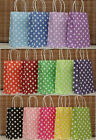 European Polka dot Sweet Gift Shopping bag Party Paper bags 21*13*8cm New