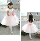 Princess Flower Girls Babies Wedding Birthday Party Bridesmaids Skirts Dress 029