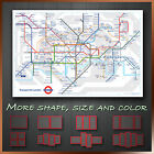 London Tube Map Modern Abstract Framed Wall Art Deco Canvas Print ~ More Sizes