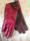 Tulmur Genuine Leather Driving Gloves Pink/Black