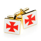 Superb Quality Masonic Knights Templar Cufflinks KT Emblem