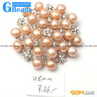 black/ white/pink/purple nice pearl white gold plated peony flower brooch 48mm