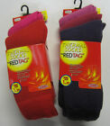 Ladies Thermal Socks - 3 Pack - Reg Tag - 41B260 - Pink or Purple Mix