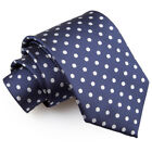 DQT Woven Polka Dot Formal Business Mens Classic Tie Necktie + FREE Matching Bow <br/> Highest Quality! Matching Accessories Also Available