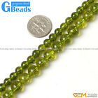 6mm 8mm pretty round gemstone green dyed peridot loose beads strand 15""