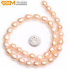 """Potato 10-11x12-13mm Freshwater Pearl Jewelry Making Beads 15"""" Color Select"""