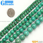 4/6/8/10/12/14/16/18/22/25mm round old turquoise gems loose beads strand 15""