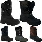MENS SNOW MOON BOOTS WATERPROOF MUCKER THERMAL WELLINGTONS FUR SKI WINTER RAIN